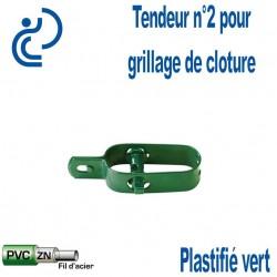 Tendeur Plastifié Vert n°2 pour clôture grillagée