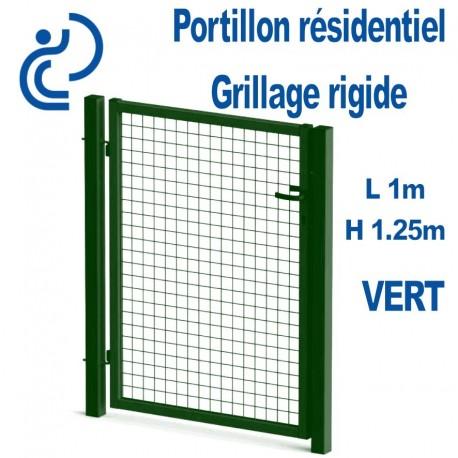 Portillon Standard Grillagé Vert 1mx1.25m serrure intégrée