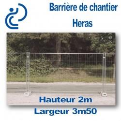 Barrière de Chantier Heras Longueur 3m50 Hauteur 2m