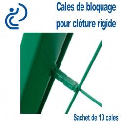 Cales de Blocage Pour montage de Clôture à panneaux rigides (sachet de 10)
