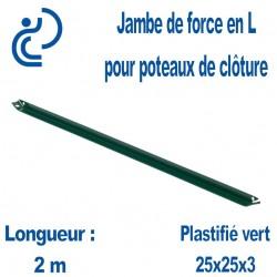 Jambe de force en L Vert longueur 2.00m