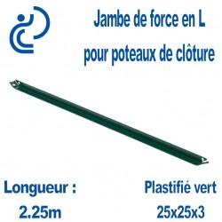 Jambe de force en L Vert longueur 2.25m