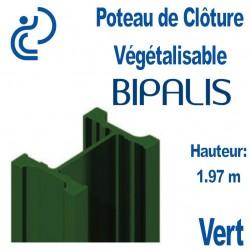 Poteau de Clôture Végétalisable BIPALIS Hauteur 1.97m