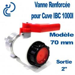 """VANNE POUR CUVE 1000L B70MM 2"""""""