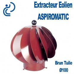 EXTRACTEUR EOLIEN ASPIROMATIC 100 Brun Tuile