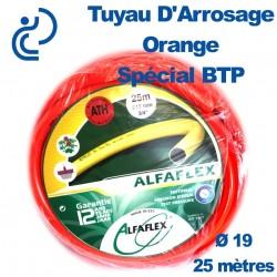 TUYAU D'ARROSAGE ORANGE D19 SPECIAL BTP couronne de 25ml