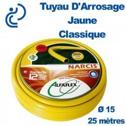 TUYAU D'ARROSAGE JAUNE D15 couronne de 25ml