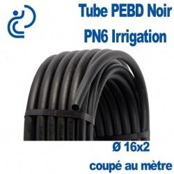 TUBE PEBD NOIR 16X2 PN6 coupé au mètre