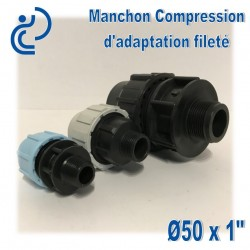 Manchon Compression d'adaptation D50 fileté 1""