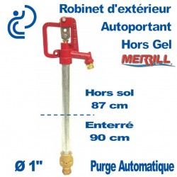 Robinet Merrill hors gel Any FLow pour profondeur 90
