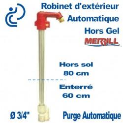 Robinet à Fermeture Automatique autoportant hors gel profondeur 60