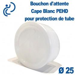 CAPE Bouchon d'attente D25 en Pehd Blanc