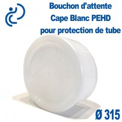 Bouchon d'attente CAPE D315 en Pehd Blanc