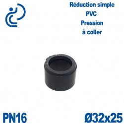 Réduction Simple D32X25 Mâle Femelle à coller PVC Pression