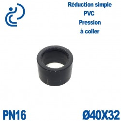 Réduction Simple D40x32 Mâle Femelle à coller PVC Pression