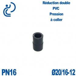 Réduction double D20/16x12 à coller PVC Pression