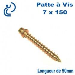 Patte à Vis Bois 7x150 longueur 50mm