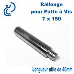 Rallonge pour Patte à Vis 7x150 longueur 40mm Mâle Femelle