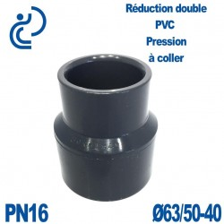 Réduction double D63/50x40 à coller PVC Pression