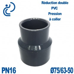 Réduction double D75/63x50 à coller PVC Pression