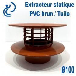 EXTRACTEUR STATIQUE D100 PVC Brun Tuile