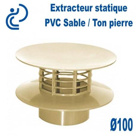 EXTRACTEUR STATIQUE D100 PVC Sable / ton pierre