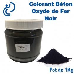 Colorant Béton Pigment Oxyde de Fer Noir en pot de 1Kg