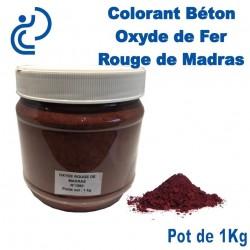 Colorant Béton Pigment Oxyde de Fer Rouge de Madras en pot de 1Kg