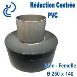 Réduction Centrée PVC à coller Ø250 x 140 Mâle/femelle