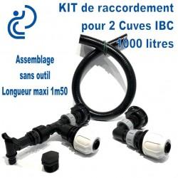 KIT de jumelage pour 2 cuves 1000 litres IBC modulable prêt à monter