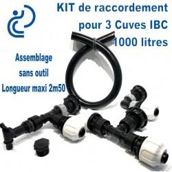 KIT de Jumelage pour 3 cuves 1000 litres IBC modulable prêt à monter