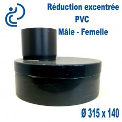 REDUCTION EXCENTREE PVC 315X140MF