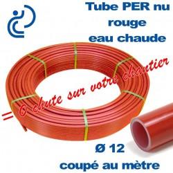 Tube PER Rouge Nu Coupé au mètre