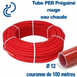 Tube PER Rouge PréGainé en Couronne de 100 mètres