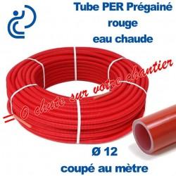 Tube PER Rouge Ø12 PréGainé Coupé au mètre