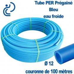 Tube PER Bleu PréGainé Ø12 en Couronne de 100 mètres