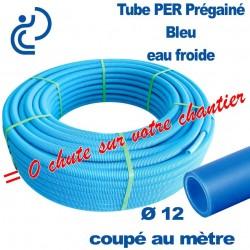 Tube PER Bleu Ø12 PréGainé Coupé au mètre