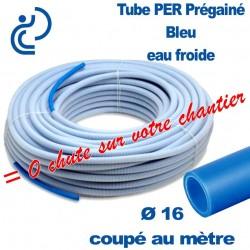 Tube PER Bleu Ø16 PréGainé Coupé au mètre