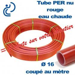Tube PER Rouge Nu Ø16 Coupé au mètre