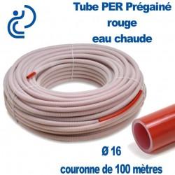Tube PER Rouge PréGainé Ø16 en Couronne de 100 mètres