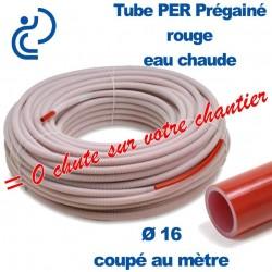 Tube PER Rouge Ø16 PréGainé Coupé au mètre