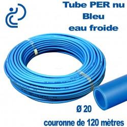 Tube PER Bleu Nu Ø20 en Couronne de 120 mètres