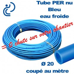 Tube PER Bleu Nu Ø20 Coupé au mètre
