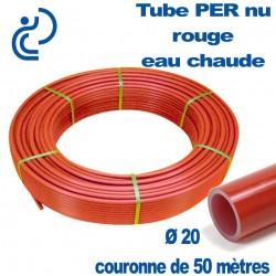 Tube PER Rouge Nu Ø20 en Couronne de 50 mètres