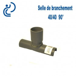 Selle de Branchement 40x40 à 90° PVC à coller