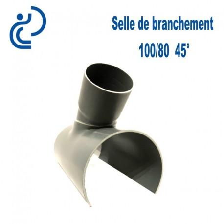 Selle de Branchement 100x80 à 45° PVC à coller