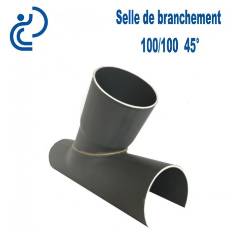 Selle de Branchement 100x100 à 45° PVC à coller