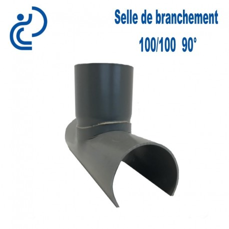Selle de Branchement 100x100 à 90° PVC à coller