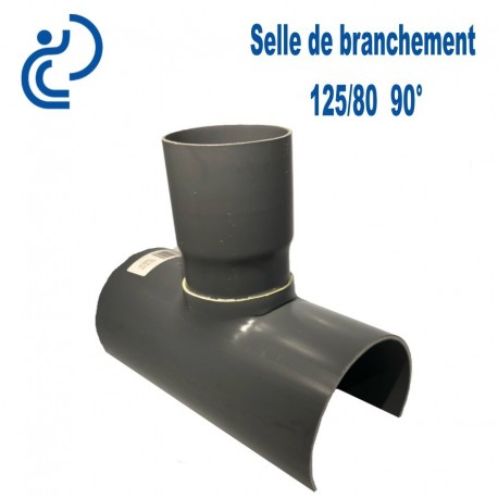 Selle de Branchement 125x80 à 90° PVC à coller