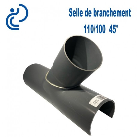 Selle de Branchement 110x100 à 45° PVC à coller